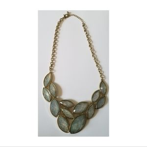 Franscesca's Light Green & Gold Statement Necklace